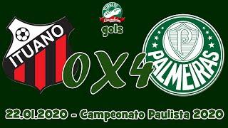 Camp. Paulista 2020 – Ituano 0X4 Palmeiras (Gols) – 22.01.2020